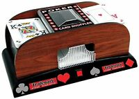 Trademark Poker 2-deck Automatic Card Shuffler Brown No Vat