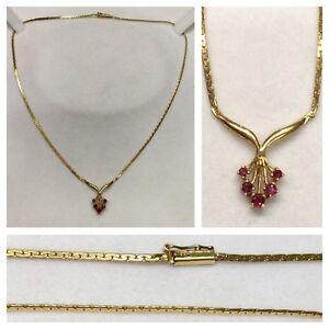 Collier-925er-Silber-Silbercollier-vergoldet-mit-Farbstein-Silberkette