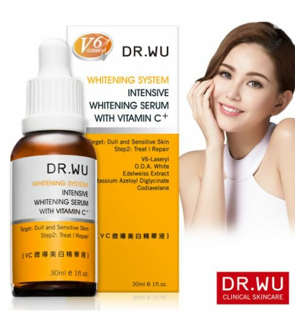 Dr.Wu Intensive Whitening Serum with Vitamin C+ 30ml New In Box VC微導美白精華液