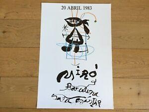 Original-Exhibition-Poster-MIRo-Cartel-Original-de-Exposicion-SALA-GASPAR-1983