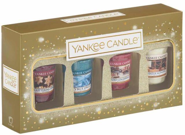 Yankee Candle Christmas 4x Votive Candle Gift Set
