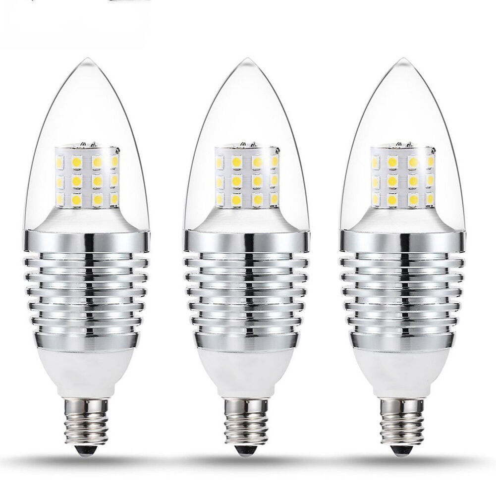LED E12 Candelabra Base Bulb 7W 110V Daylight White 6000