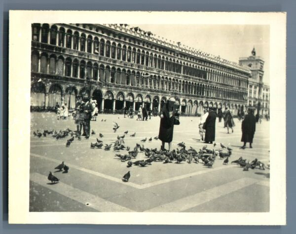Qualifié Italia, Venezia Vintage Silver Print. Vintage Italy Tirage Argentique D'é Top PastèQues