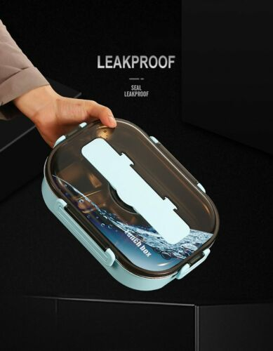 Portable 304 Stainless Steel Lunch Bento Box Leakproof Food Container