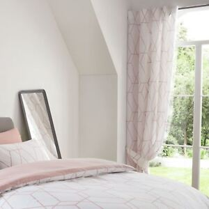 Metro-Geometrique-Diamant-Fard-Rose-Doublure-Rideaux-Chambre-54-034-137cm