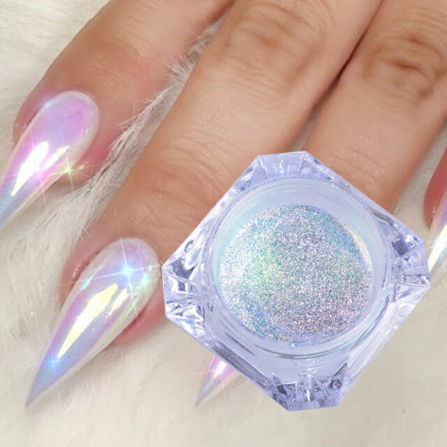 Color-Change Neon Aurora Mermaid Nail Art Glitter Powder Mirror Chrome Pigment