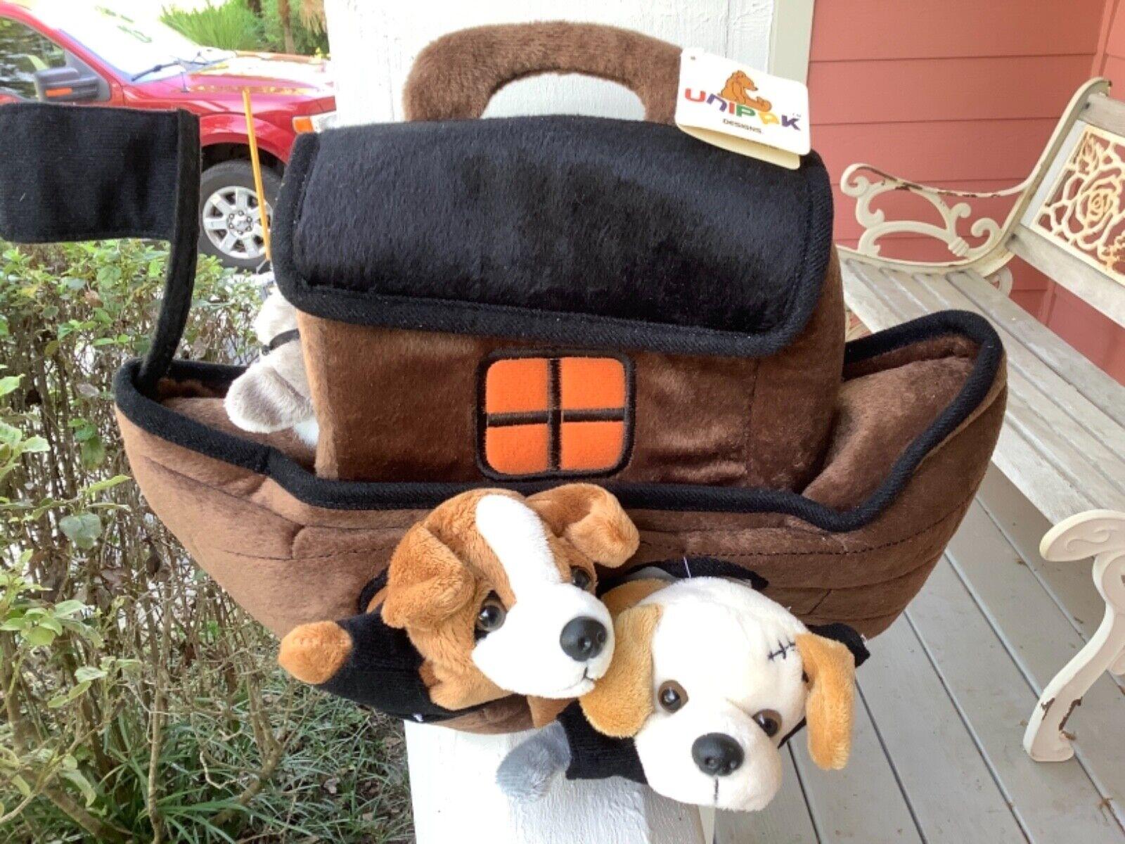 Unipak Designs braun Plush Pirate Ship with Five Pirate Dogs