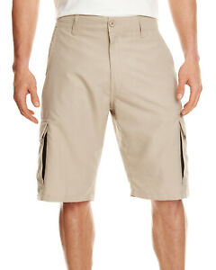 Burnside-Men-039-s-3-2-oz-100-Polyester-30-40-Microfiber-Cargo-Short-B9803