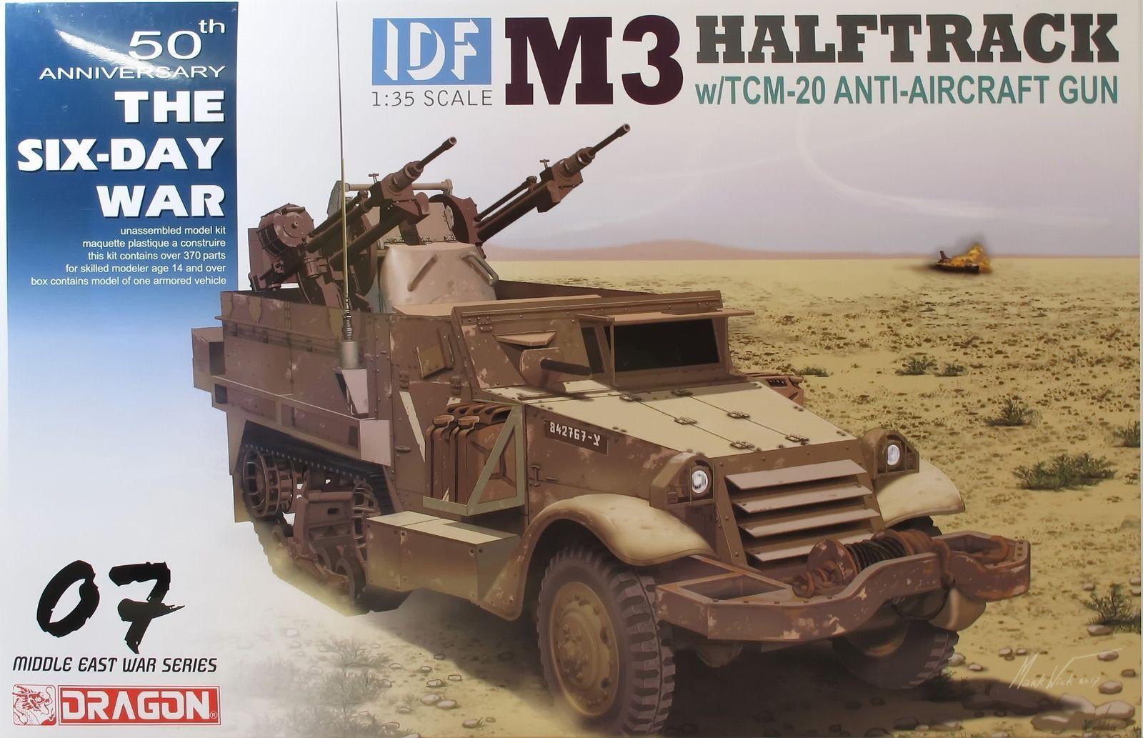 DRAGON 3586        IDF M3 Halftrack w TCM-20 Anti-Aircraft G   1 35