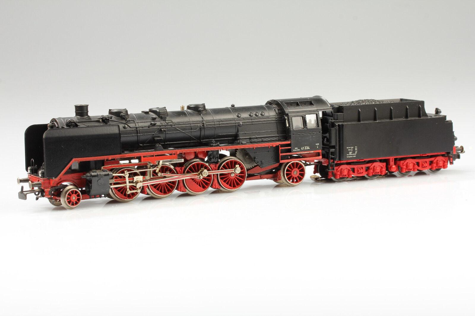 Märklin h0 steam locomotive BR 41 334 works seht & licht vale