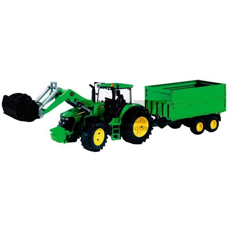 John Deere Traktor 7930 mit Frontlader und Anhänger JOHN DEERE 7930 M.FRONTLADER