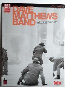 """100% Vrai Dave Matthews Band: """"live In Chicago 12.19.98"""", Volume 2-pour Guitare Tab/vocal-afficher Le Titre D'origine Nourrir Les Reins Soulager Le Rhumatisme"""