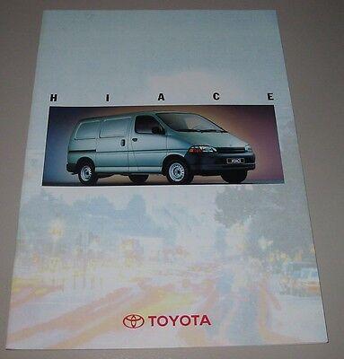 Gastfreundlich Auto Prospekt Toyota Hiace Typ Xh 10 Stand April 1996! ZuverläSsige Leistung