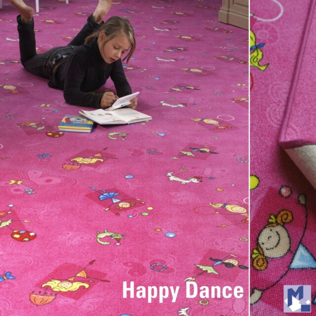 Spielteppich für Mädchen: HAPPY DANCING pink in versch. Größen