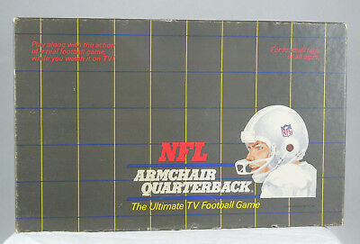 Vintage NFL ARMCHAIR QUARTERBACK BOARD GAME 4 Player TV ...