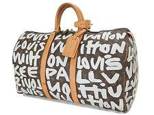Authentic LOUIS VUITTON Graffiti Keepall 50 Monogram Canvas Duffel Bag #24704