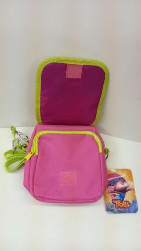 DREAMWORKS TROLLS POPPY KID ZIPPED SHOULDER BAG PINK 100/% LICENSED PRODUCT