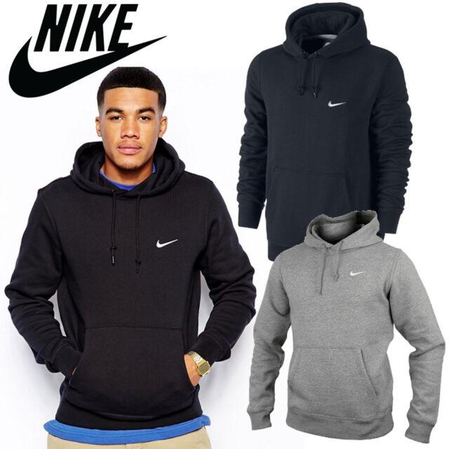 Nike Crew Mens Fleece Hoodies Swoosh Track Sweatshirt Jumpers Hooded  CLEARANCE