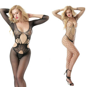 Women s Lace Sexy Lingerie Fishnet Bodysuit Full Body Stocking ... ed99cca03