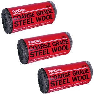 3 X 400 G Prodec Coarse Grade 3 Steel Wool General Purpose Cleaning Metal Copper-afficher Le Titre D'origine 1jph42hz-08000036-272897561