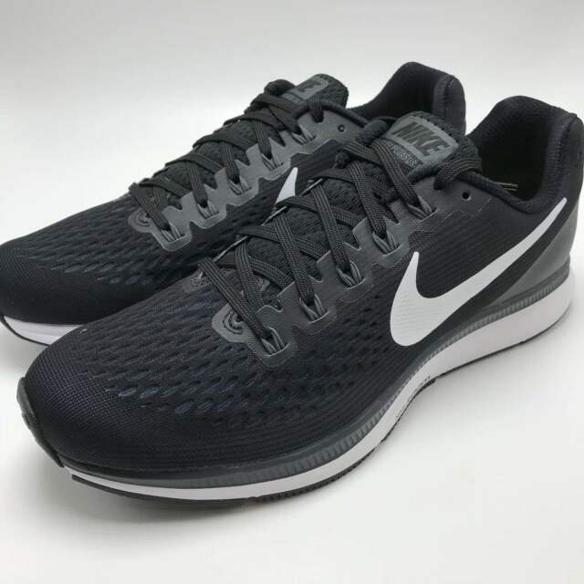 reputable site 0ceb6 96ba2 Nike Air Zoom Pegasus 34 Mens 880555-001 Black White Running Shoes Size 11.5