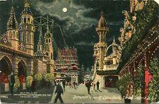 (#225) Interior View Luna Park Coney Island Amusement New York PM 1912 Postcard