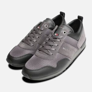 827487f7d73b Image is loading Tommy-Hilfiger-Maxwell-Trainers-in-Black-amp-Grey