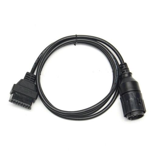 OBD 2 Adapterkabel Adapter 10 Pin COM-D für BMW Motorrad Diagnose Stecker Nett