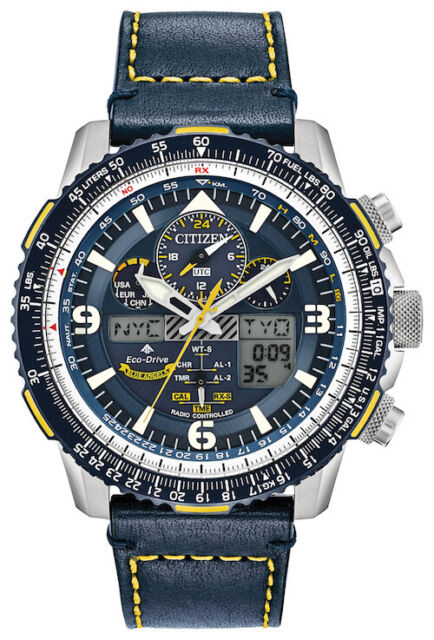 NEW CITIZEN PROMASTER BLUE ANGELS SKYHAWK ANALOG DIGITAL BLUE LEATHER JY8078-01L