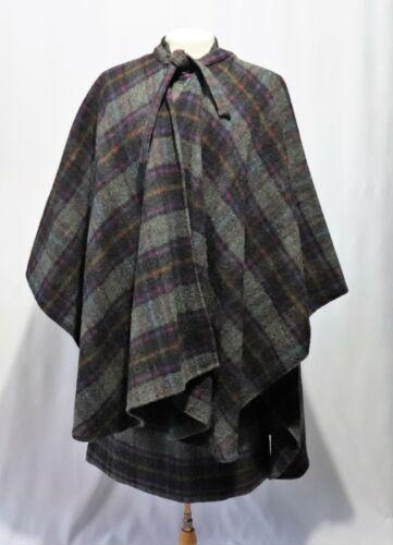 Vintage Wool Suit 3 Piece Shirt Top Jacket Skirt C