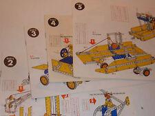vintage LOT manuel plan MECCANO boite n°2-3-4-5 grue VOITURE avion BATEAU scoot