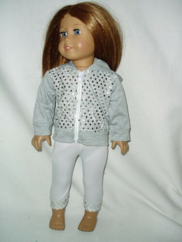 """Outfit Fits American Girl Dolls 18/"""" doll clothes Sequin Hoodie /& Pants"""