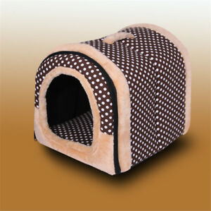Pet Cat Igloo Bed Small Dog Soft Bed Met House Waterproof