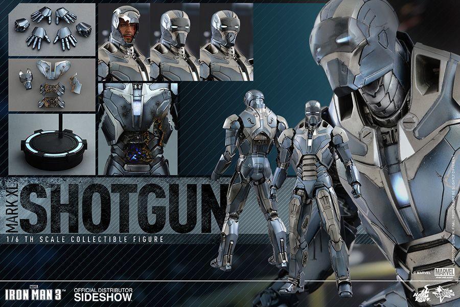 Iron Man 3-Mark XL escopeta 12  escala 1 6 Figura De Acción-hotmms 309