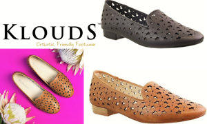 Klouds shoes - Orthotic friendly comfort leather flats - Emilie