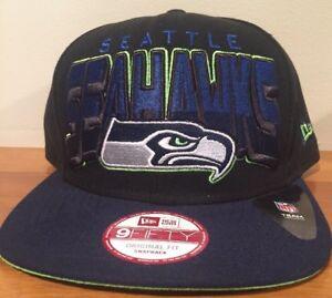 fdcd9bf053d Seattle Seahawks Official NFL New Era Big Black Mens Snapback 9FIFTY ...