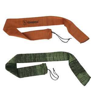 "Tourbon 2 Pack Silicone Treated Shotgun Sleeve Rifle Sock Bag 52/"" Scoped Storage"