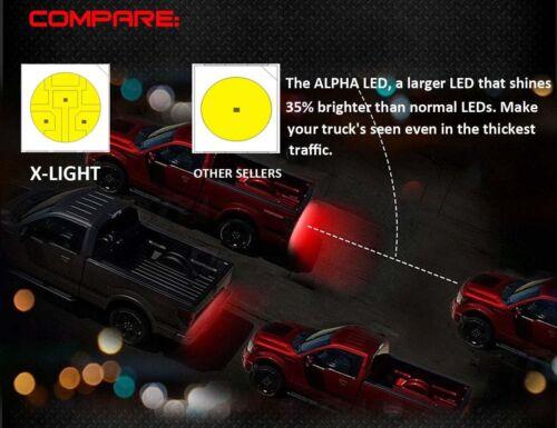 """48/"""" 2-ROW 5-Functions LED Running Brake Truck Tailgate Reverse Light Strip Bar"""