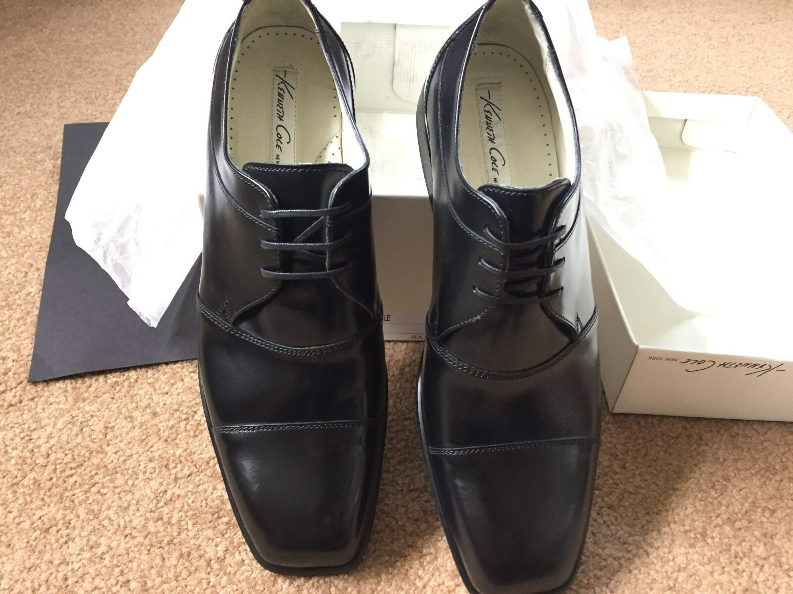 Kenneth Cole Right Angle Black leather 10.5D NIB