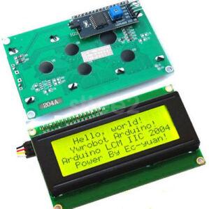 New-Yellow-IIC-I2C-TWI-2004-20x4-Serial-LCD-Module-Display-Arduino-compatible