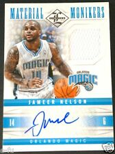 2012-13 Limited JAMEER NELSON Auto Game Used Magic Autograph Jersey #ed 5/49