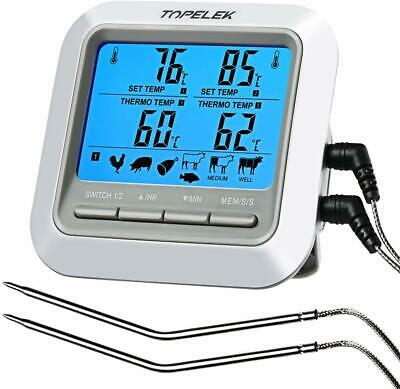 TOPELEK Thermometer Küche Digitales Grill Thermometer Bratenthermometer