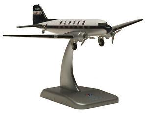 Hogan ALASKA AIRLINES DC-3 2pcs in the box 1/200 diecast plane model aircraft