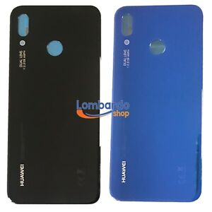 Glass-Rear-Shell-for-Huawei-P20-Lite-Back-Cover-Battery-Cover-Blue-Black