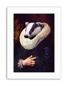 MAASTRICHT-RUBENS-WITH-BADGER-HEAD-HUMAN-BODY-WALL-Canvas-art-Prints