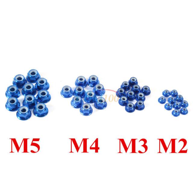 10Pcs M2 M3 M4 M5 Nylon Insert Self-Lock Aluminum Nuts Hex Lock Nut 4 Colors New