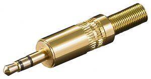 3-5mm-Premium-Klinke-Klinken-Stecker-Loetversion-Plug-Stereo-Vergoldet