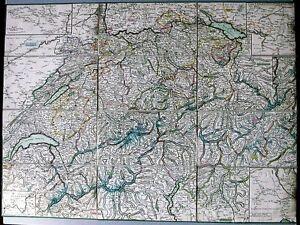 Antique-map-Keller-039-s-Keilecharte-der-Schweiz