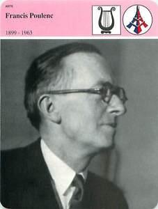 FICHE-CARD-Francis-Poulenc-1885-1963-compositeur-et-pianiste-Paris-France-90s