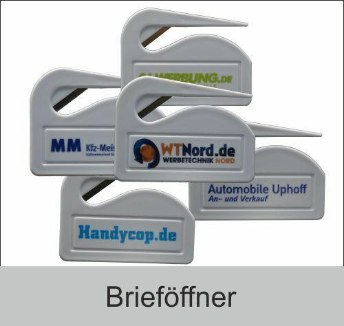 Brieföffner aus Kunststoff mit oder ohne Druck auch als Einzelstück